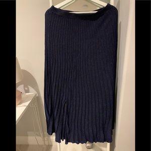 Sandro elastic deep blue maxi dress